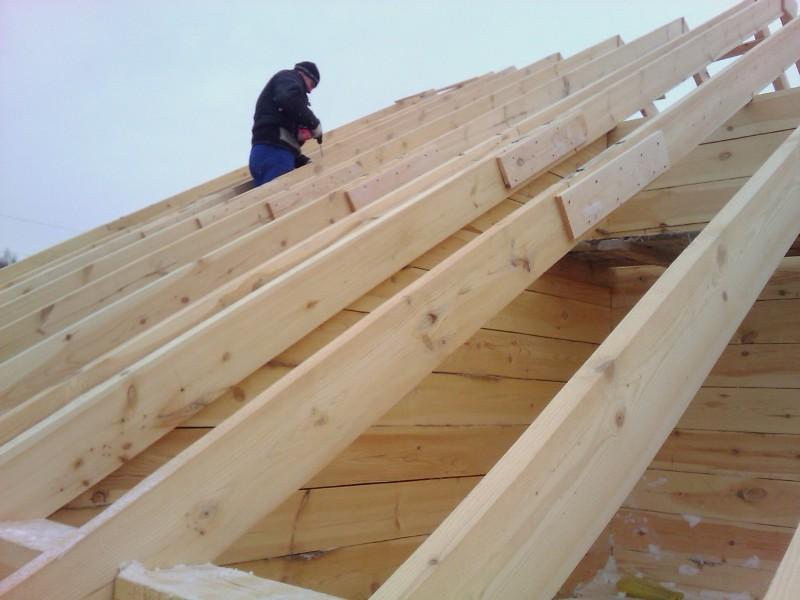 Крыша из бруса