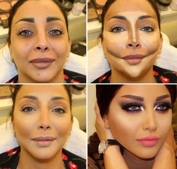 Как сделать лицо худым с помощью макияжа