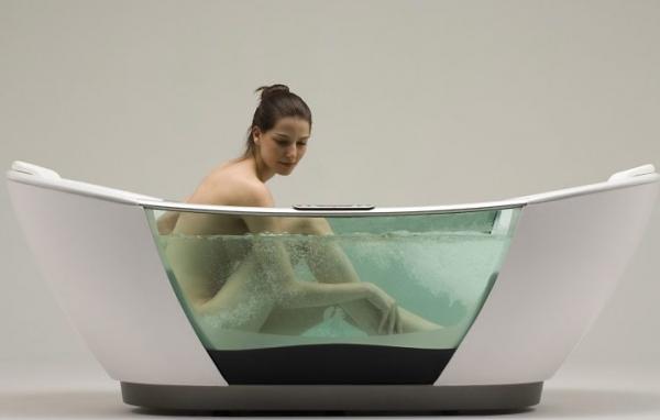 прозрачные ванны
