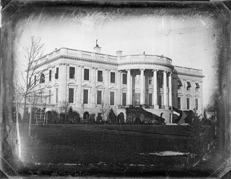 Белый дом США Вашингтон 1800 год фото