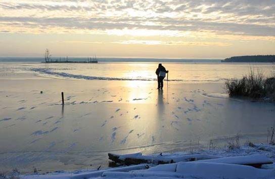 Первый лед - прелести и напасти.