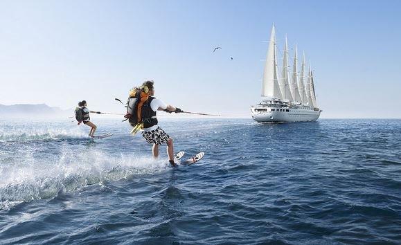 Водные лыжи в Греции