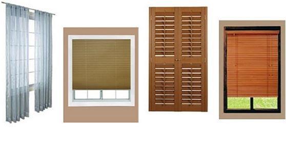 Виды жалюзи на окна ПВХ: тканевые жалюзи, пластиковые жалюзи.