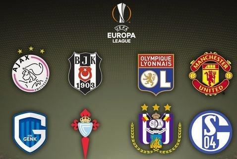 Результаты жеребьевки четвертьфинала Лиги Европы