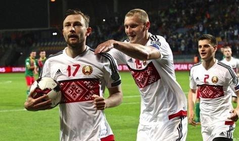 Сборная Беларуси одержала первую победу в квалификации на ЧМ-2018.