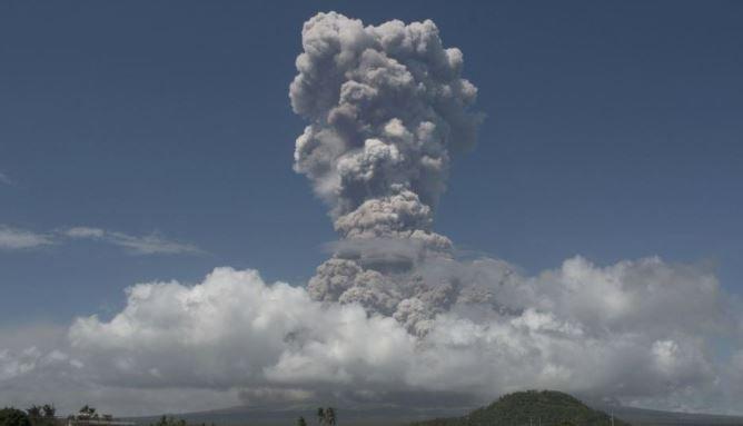 Вулкан Майон Филиппины взрыв