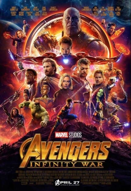 постер «Мстители: война бесконечности»