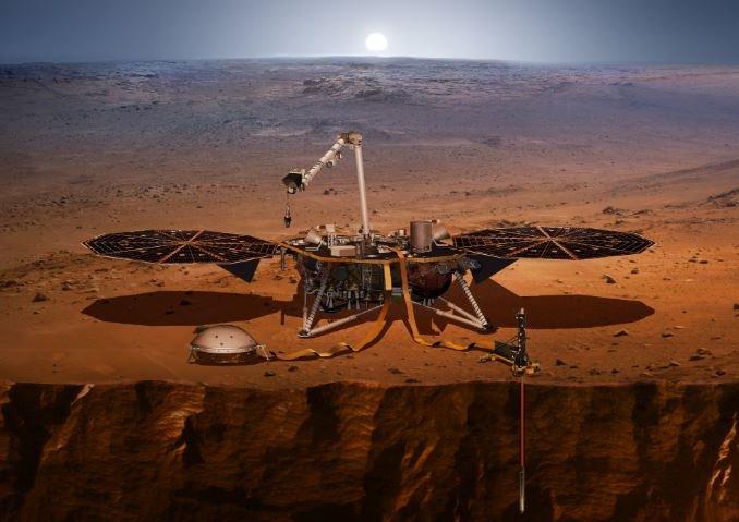 NASA модуль InSight Марс 2018