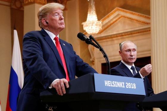 Путин и Трамп в Хельскинки