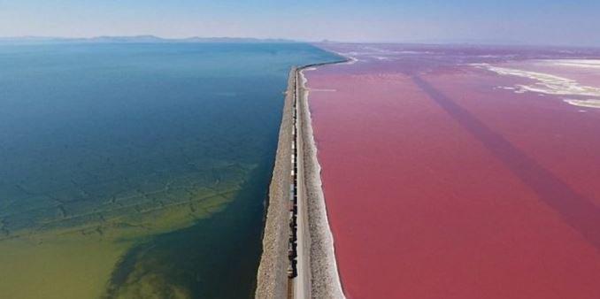 Озеро Great Salt Lake Юта США