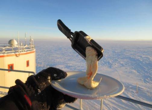 еда на морозе