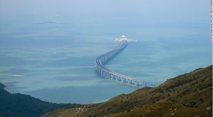 самый длинный мост HKZMB Гонконг Китай 2018