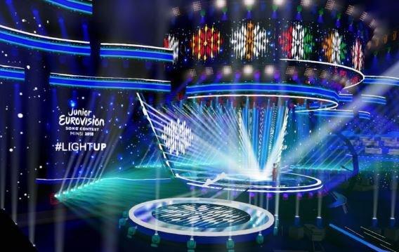 В «Минск-Арене» начали установку оборудования к «Детскому Евровидению-2018»