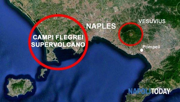 вулкан на Флегрейских полях