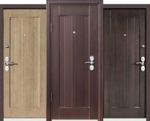 Металлические двери с отделкой винилкожей