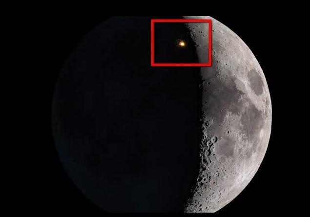 Видео: метеорит столкнулся с Луной во время затмения