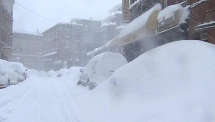 США, Сиэтл, снегопады