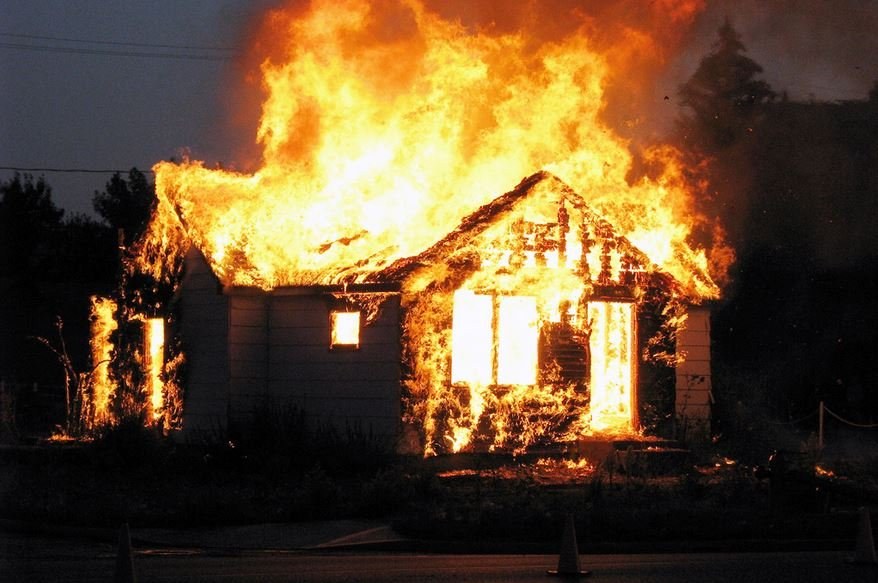 Орша пожар тушение спасатели МЧС