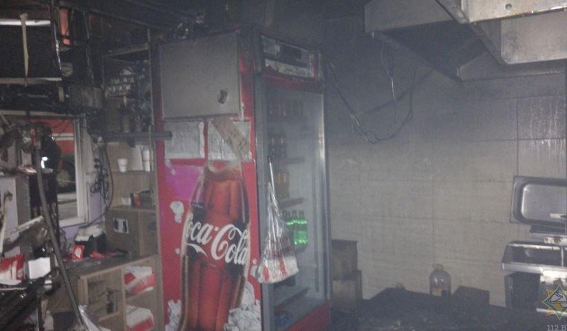 пожар в минском кафе