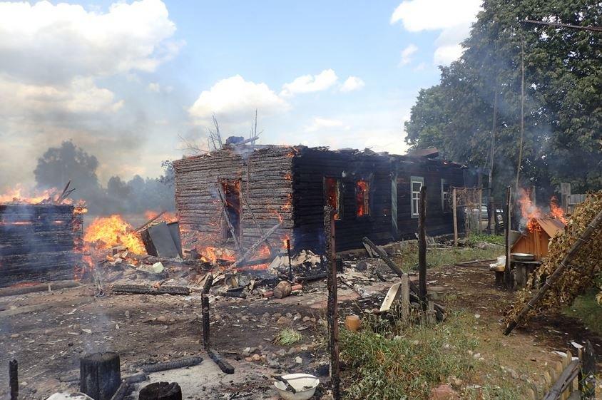 пожар в Гомельской области