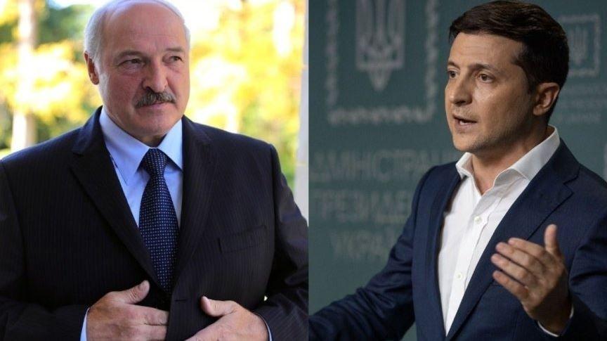 президентами Беларуси Александром Лукашенко и Украины Владимиром Зеленским