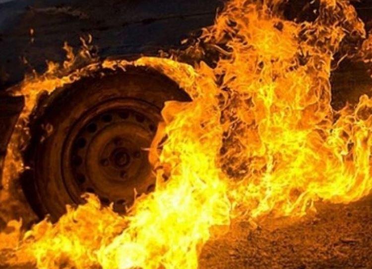 барановичи, автомобиль, пожар, возгорание, мчс, Volkswagen Crafter, новости