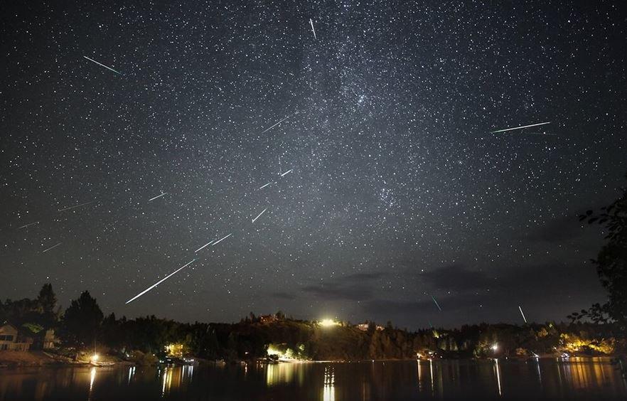метеоры, поток, Персеида, беларусь, ночь, август, 2019