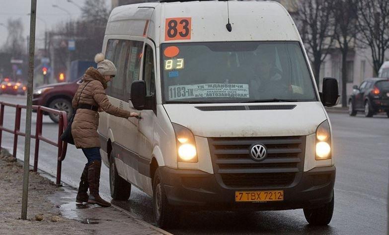 В Витебске девушка выпала из маршрутки