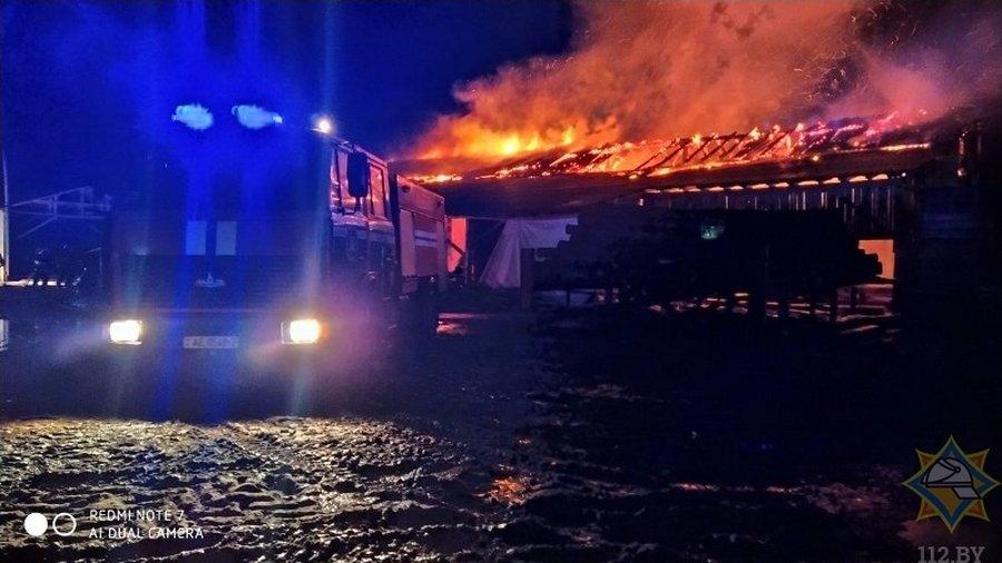 НараСтройСервис, полоцкий район, пожар, спасатели, мчс, огонь