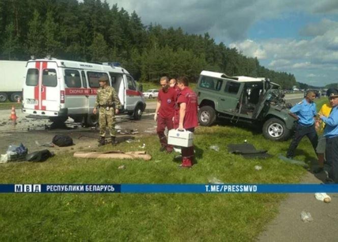 трасса М3 Минск-Витебск, дтп, авария, Skoda, Land Rover, гаи, милиция, скорая