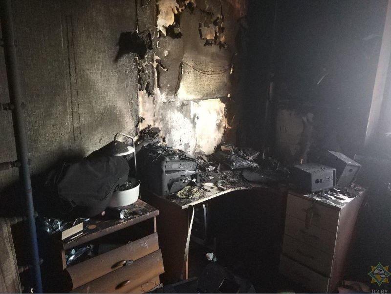 пожар, минск, притыцкого, новости, ребенок, квартира, спасатели, мчс, пожарные