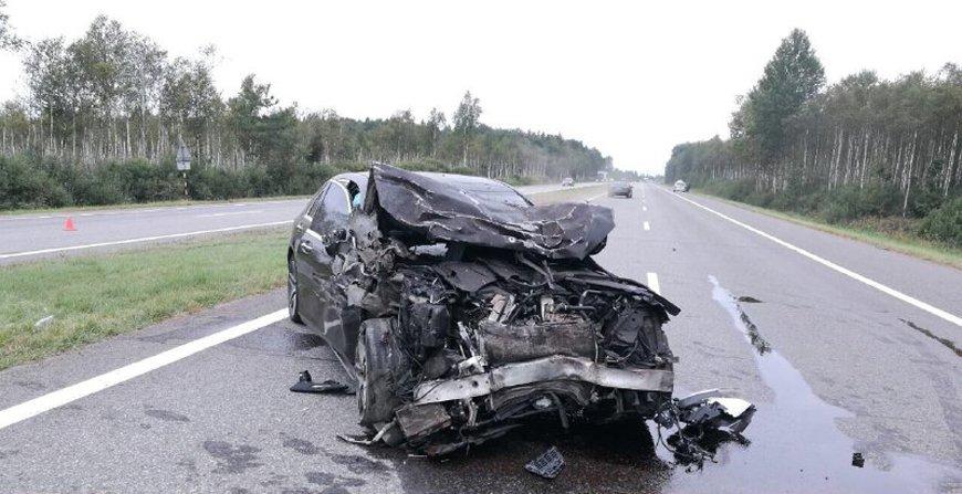 трасса М1, смолевичский район. авария, дтп, автомобиль, Mercedes