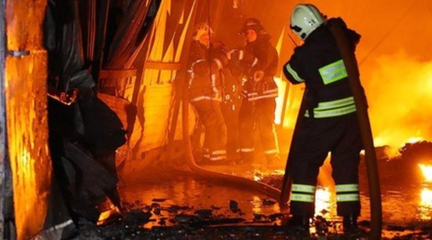 В Витебском районе горела столовая