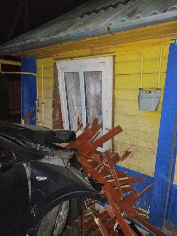 В Дзержинске водитель объезжал ежика и въехал в жилой дом