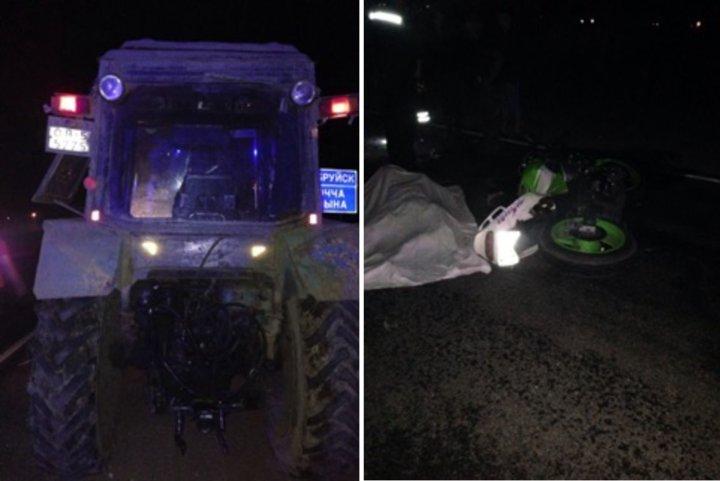 Мотоциклист врезался в трактор и погиб под Любанью