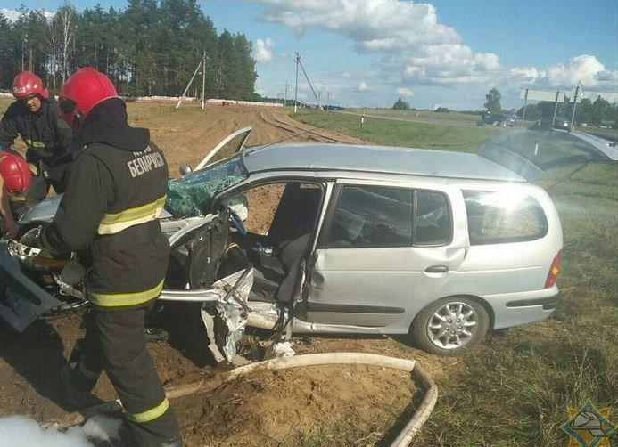 ДТП в Узденском районе: столкнулись BMW и Renault