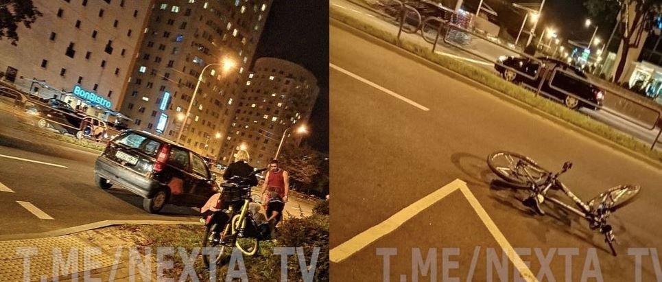 В Минске сбили велосипедистку