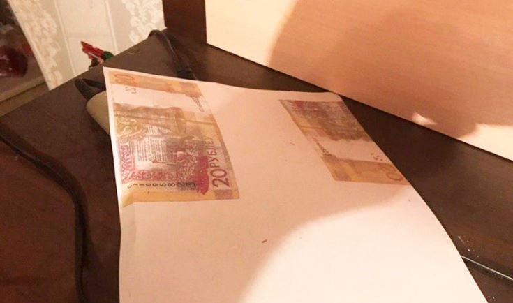 Витебский уголовник печатал на принтере 20-рублевые купюры