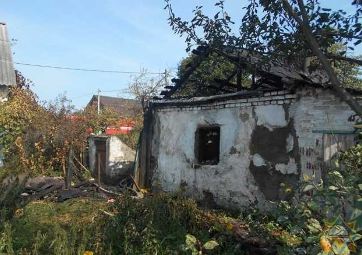 На пожаре в Орше погиб мужчина