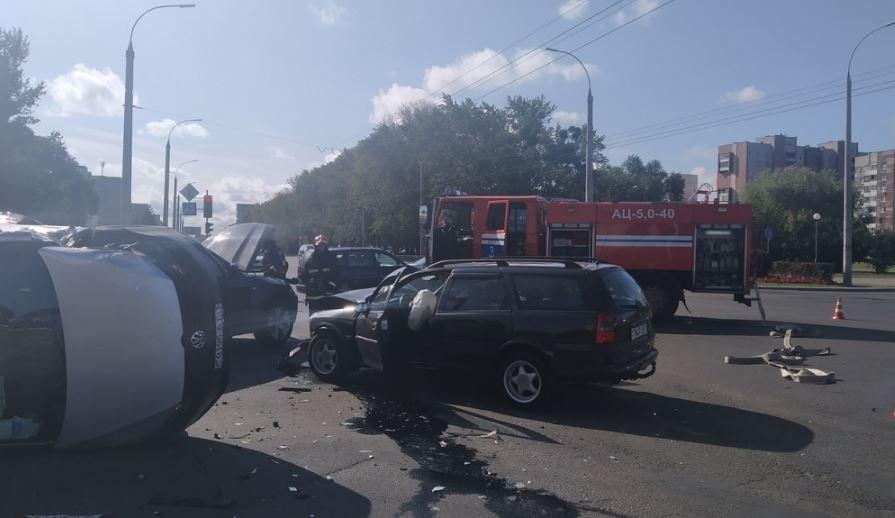Тройное ДТП в Бресте: четыре человека пострадали