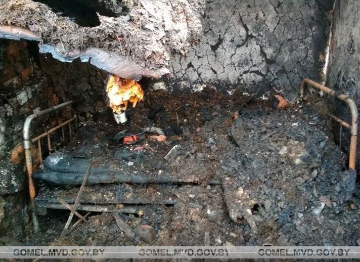 В Мозырском районе женщину подозревают в убийстве и поджоге