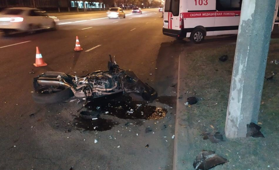 В Минске насмерть разбился мотоциклист