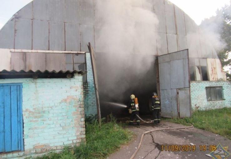 В Полоцком районе произошел пожар на частном предприятии