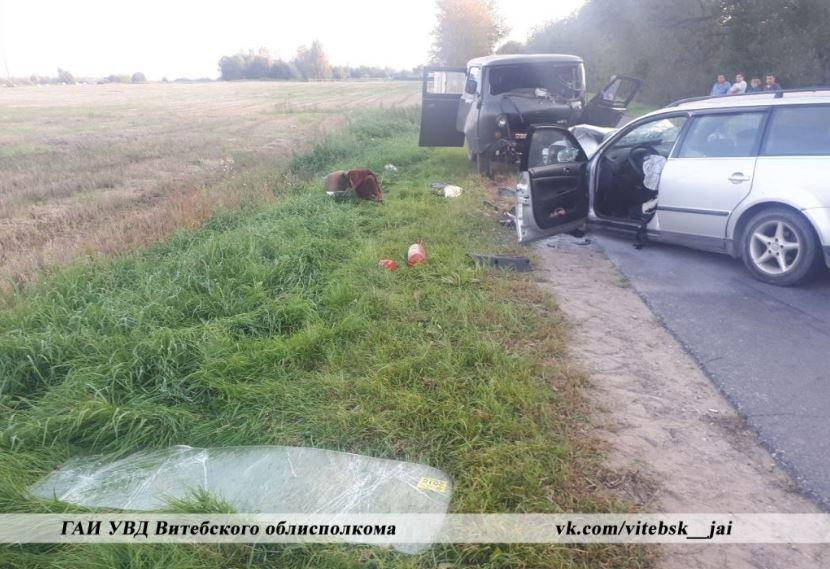 В Полоцком районе произошло лобовое ДТП: пострадал водитель
