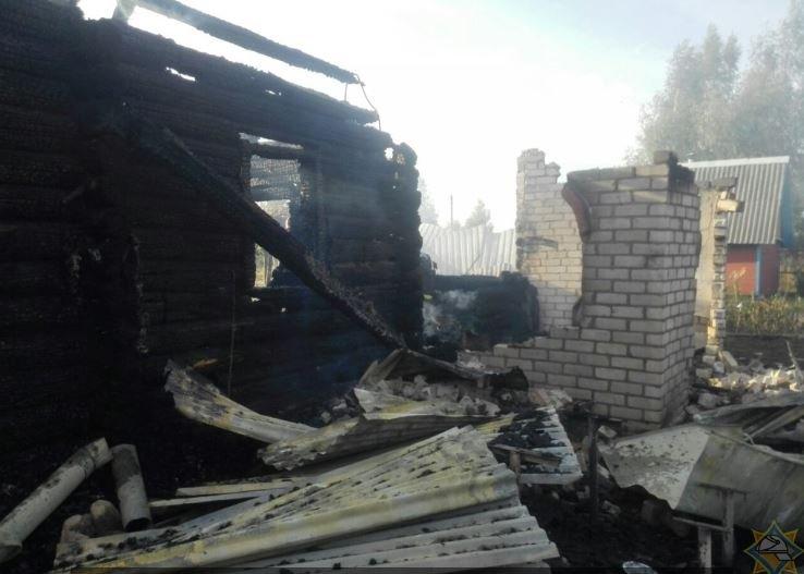В Шкловском районе на пожаре погибла женщина