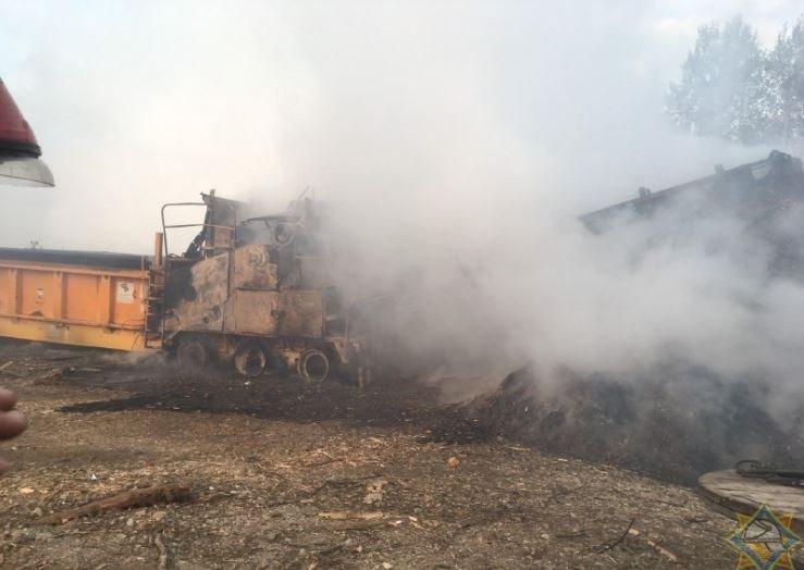 В Минском районе произошел пожар на предприятии по переработке отходов