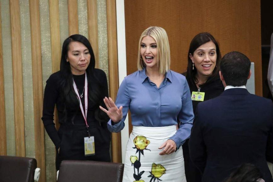 Иванка Трамп появилась на Генассамблее ООН без нижнего белья