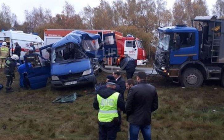 В страшном ДТП под Калугой погибли пять белорусов