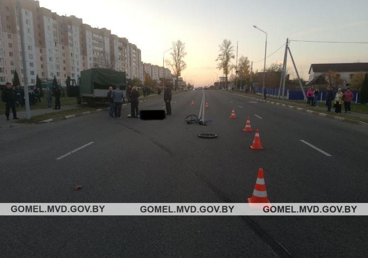 Грузовик в Жлобине насмерть сбил 13-летнего велосипедиста