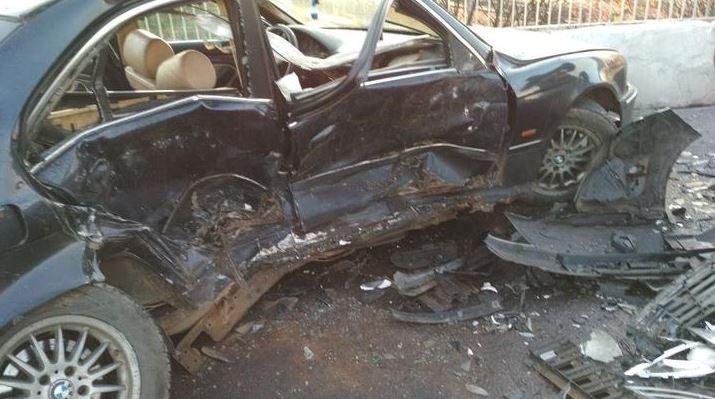 На Московской BMW вылетел на встречу и столкнулся с Renault